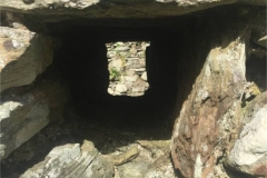 Niche or window recess(?) in the ruin part