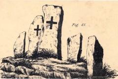Joseph Cumming's sketch of St Patrick's Chair in 1857