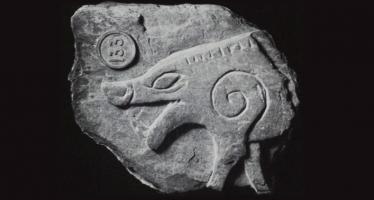 Boar Fragment from a Manx Cross