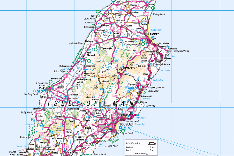 Isle Of Man Interactive Ordnance Survey Map - Isle of man map