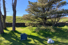William Callow's grave and a boulder of white quartz