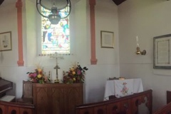 The church is decorated following the recent harvest service